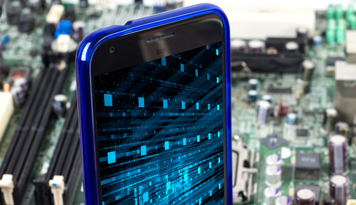 Cruzerlite Bugdroid Circuit Google Pixel XL Case - Blue