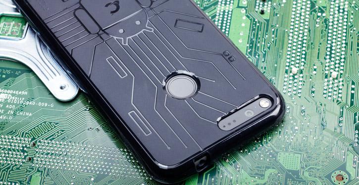 Cruzerlite Bugdroid Circuit Google Pixel XL Case - Black
