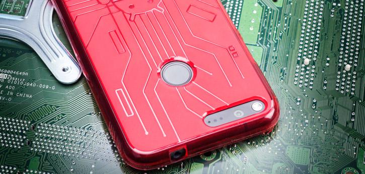 Cruzerlite Bugdroid Circuit Google Pixel XL Case - Red