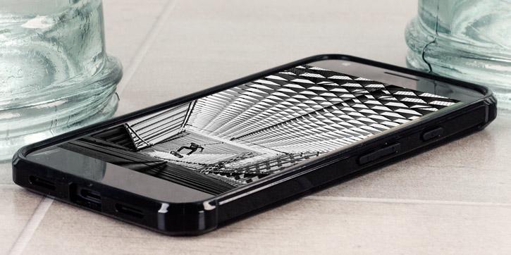 Cruzerlite Defence Fusion Google Pixel XL Bumper Case - Black / Clear