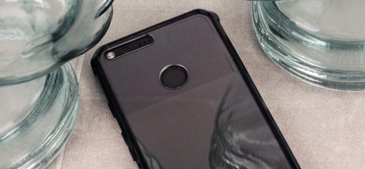 Cruzerlite Defence Fusion Google Pixel Bumper Case - Black / Clear