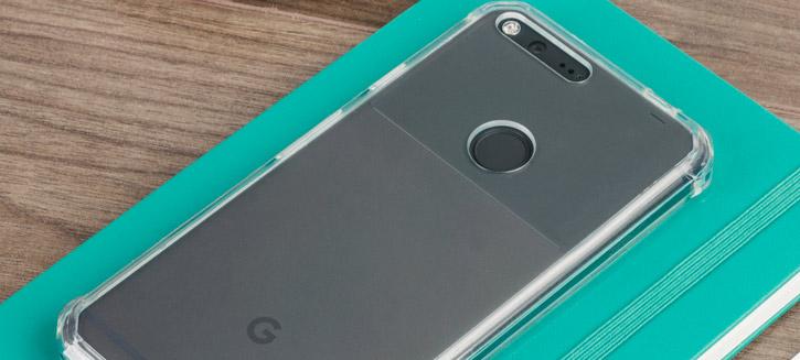 Cruzerlite Defence Fusion Google Pixel Bumper Case - Clear