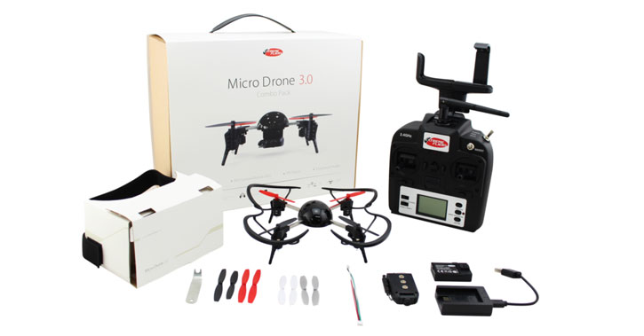 Micro Drone 3.0 Combo Pack - Drone, HD Camera and 3D Viewer
