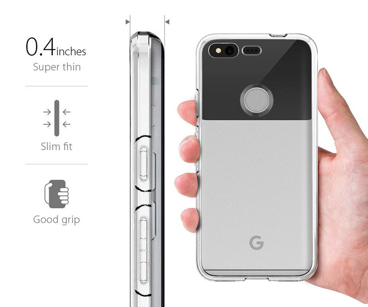 Spigen Liquid Crystal Google Pixel Shell Case - Clear