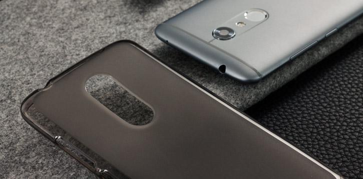 Olixar FlexiShield ZTE Axon 7 Mini Gel Case - Smoke Black