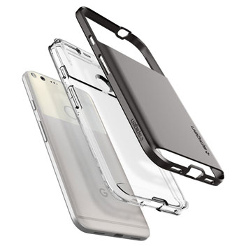 Spigen Neo Hybrid Crystal Google Pixel XL Premium Case - Gunmetal