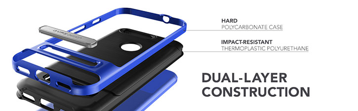 VRS Design High Pro Shield Google Pixel Case - Really Blue