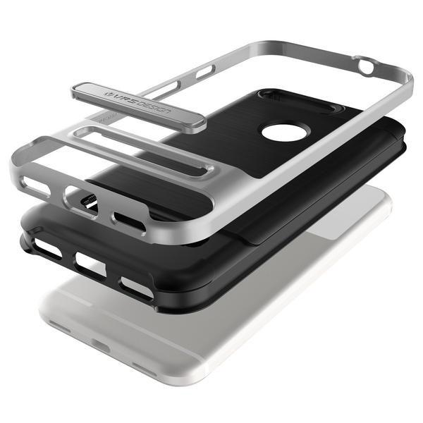 VRS Design High Pro Shield Google Pixel Case - Light Silver