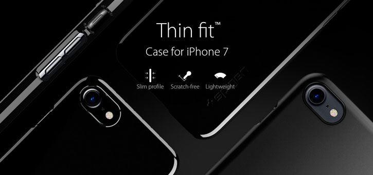 Spigen Thin Fit iPhone 7 Shell Case - Jet Black