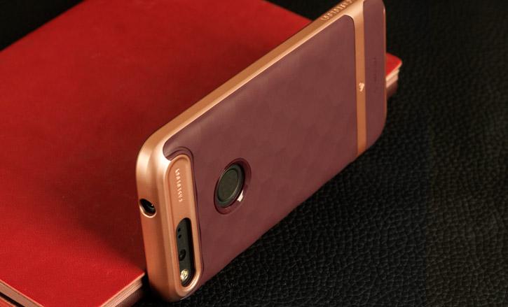 Caseology Parallax Series Google Pixel Case - Burgundy / Rose Gold