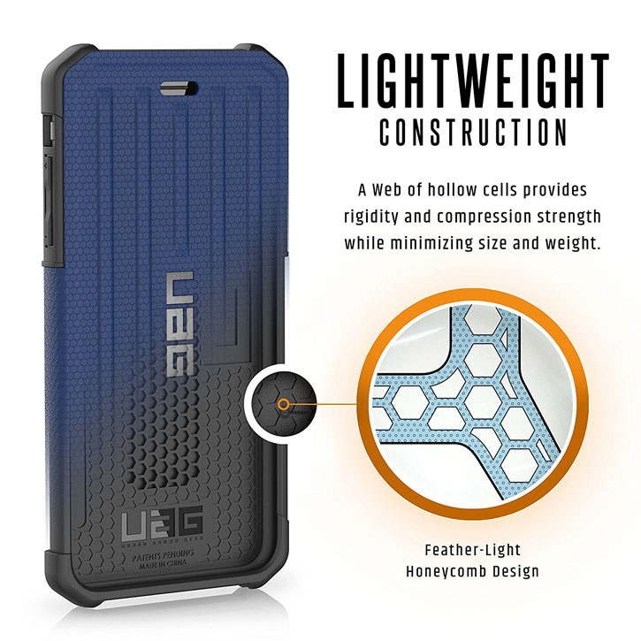 UAG Metropolis Rugged iPhone 7 Plus Wallet Case - Blue
