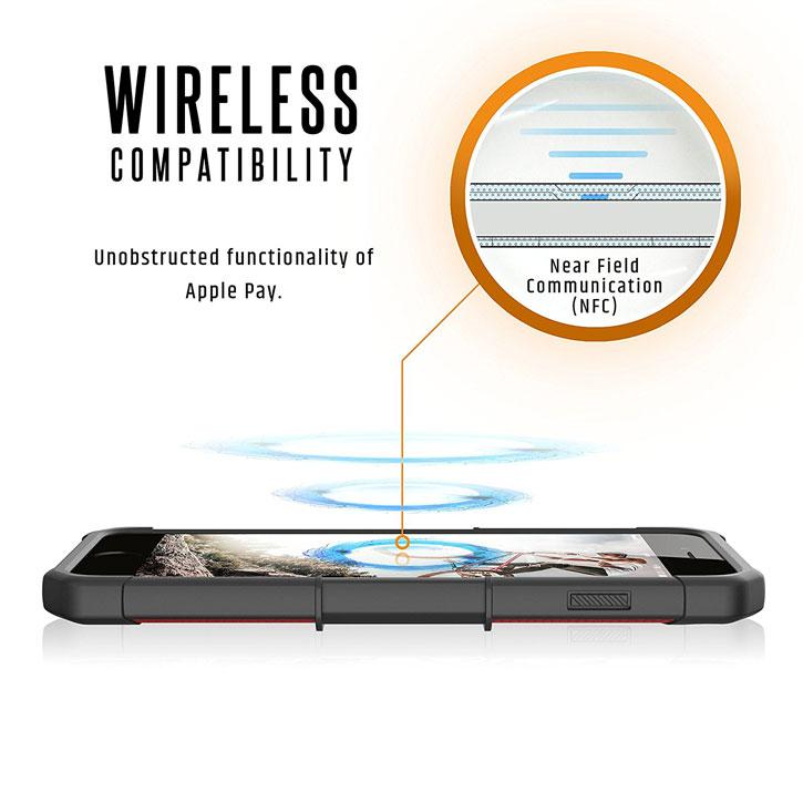 UAG Metropolis Rugged iPhone 7 Plus Wallet Case - Red