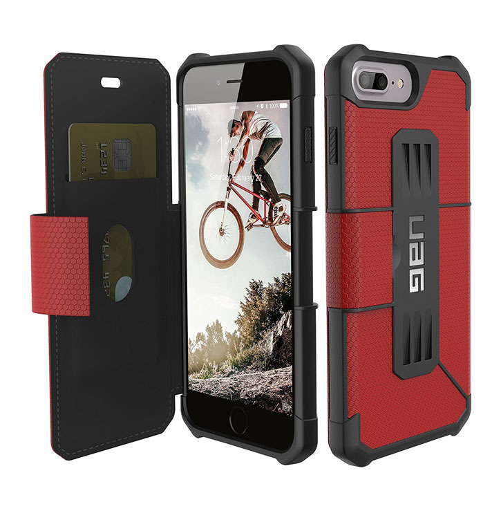 UAG Metropolis Rugged iPhone 7 Plus Wallet Case - Red