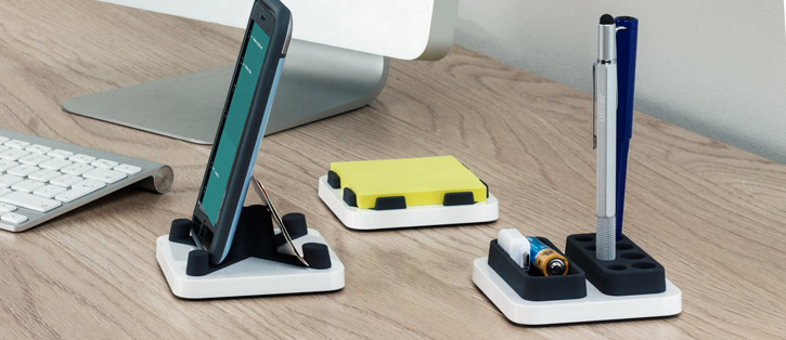 Monthings 3-in-1 Desktop Storage and Smartphone Stand