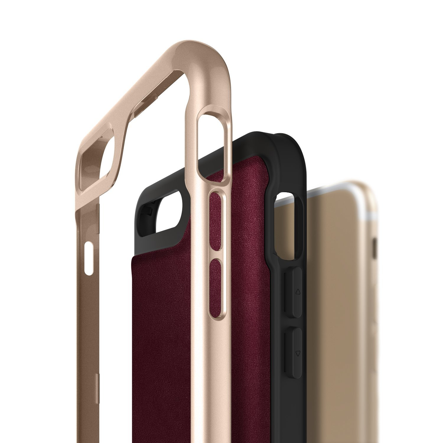 Caseology Envoy Series iPhone 7 Plus Case - Leather Cherry Oak