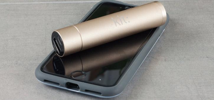 Kit 2000mAh Universal Portable Power Bank Emergency Battery - Gold