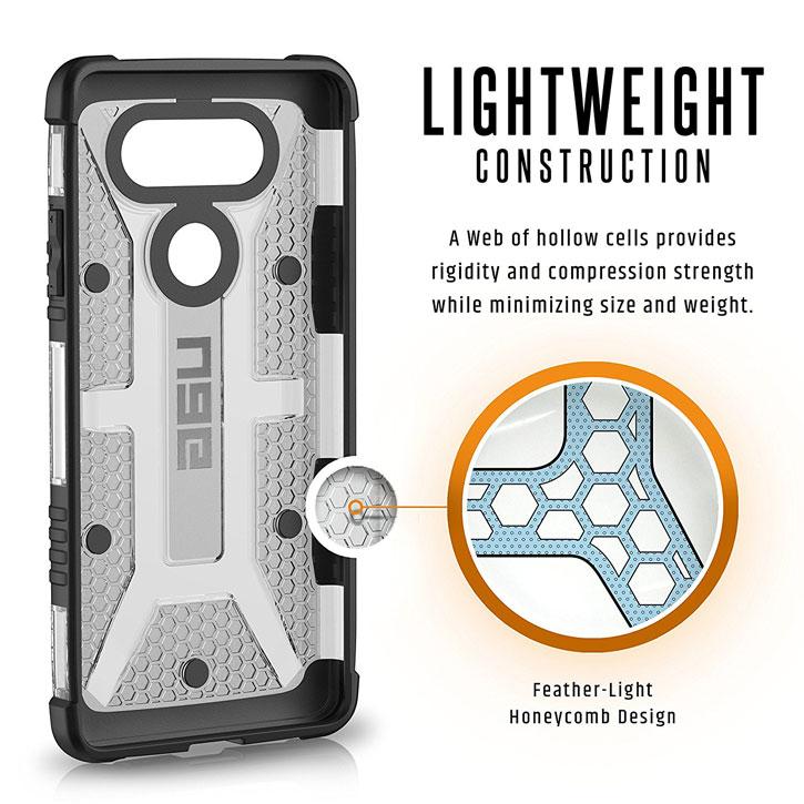 UAG Plasma LG V20 Protective Case - Ice / Black