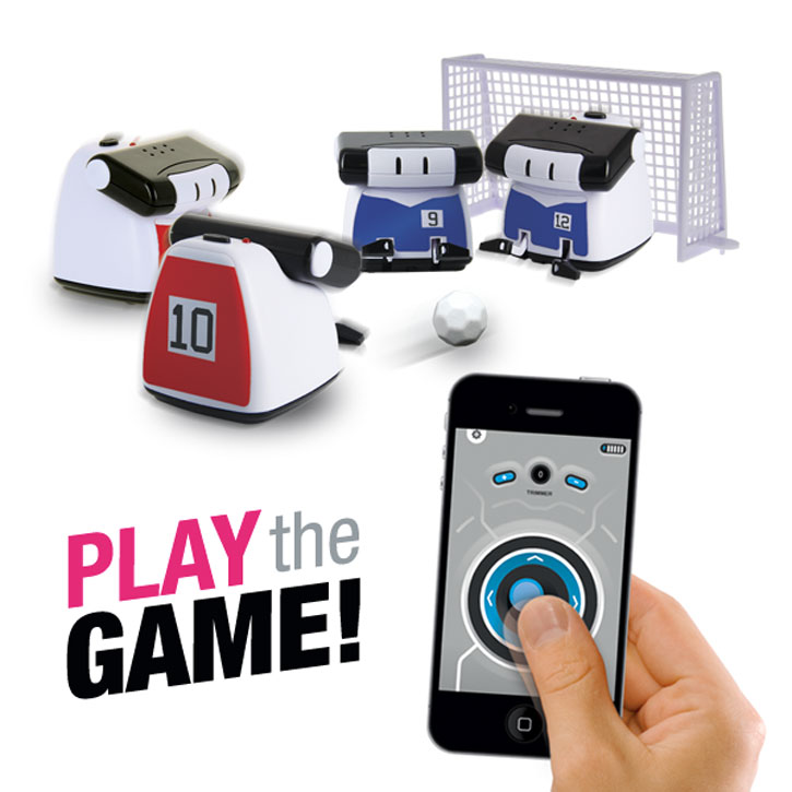 BeeWii Athlete Bluetooth App Controlled Mini Robot - Black / White
