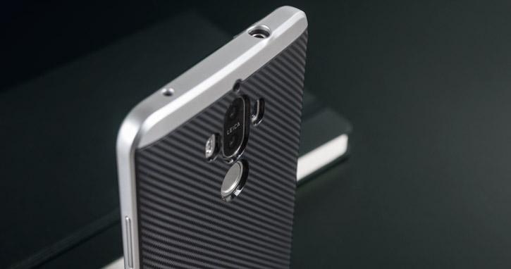Olixar X-Duo Huawei Mate 9 Case - Carbon Fibre Silver