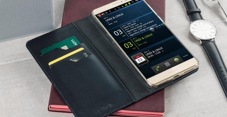 Olixar Genuine Leather Huawei Mate 9 Executive Wallet Case - Black
