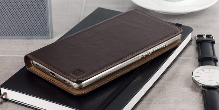 Olixar Genuine Leather iPhone 7 Executive Wallet Case - Brown