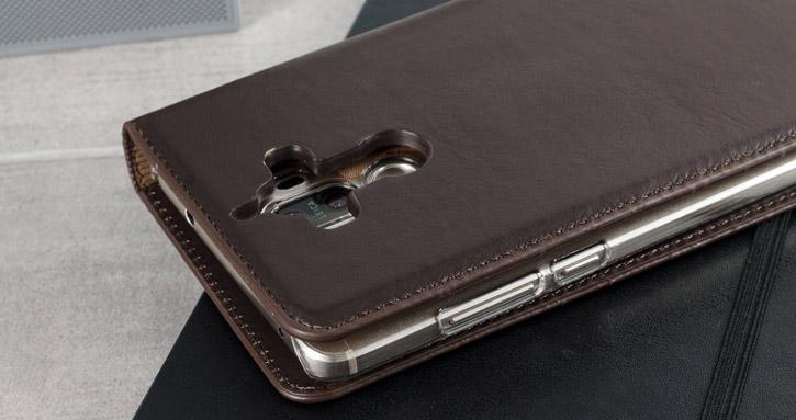 Olixar Genuine Leather iPhone 7 Executive Wallet Case - Brown