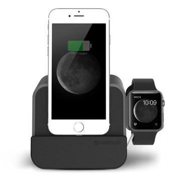 Dock de chargement VRS i-Depot Plus Lightning & Apple Watch – Argent