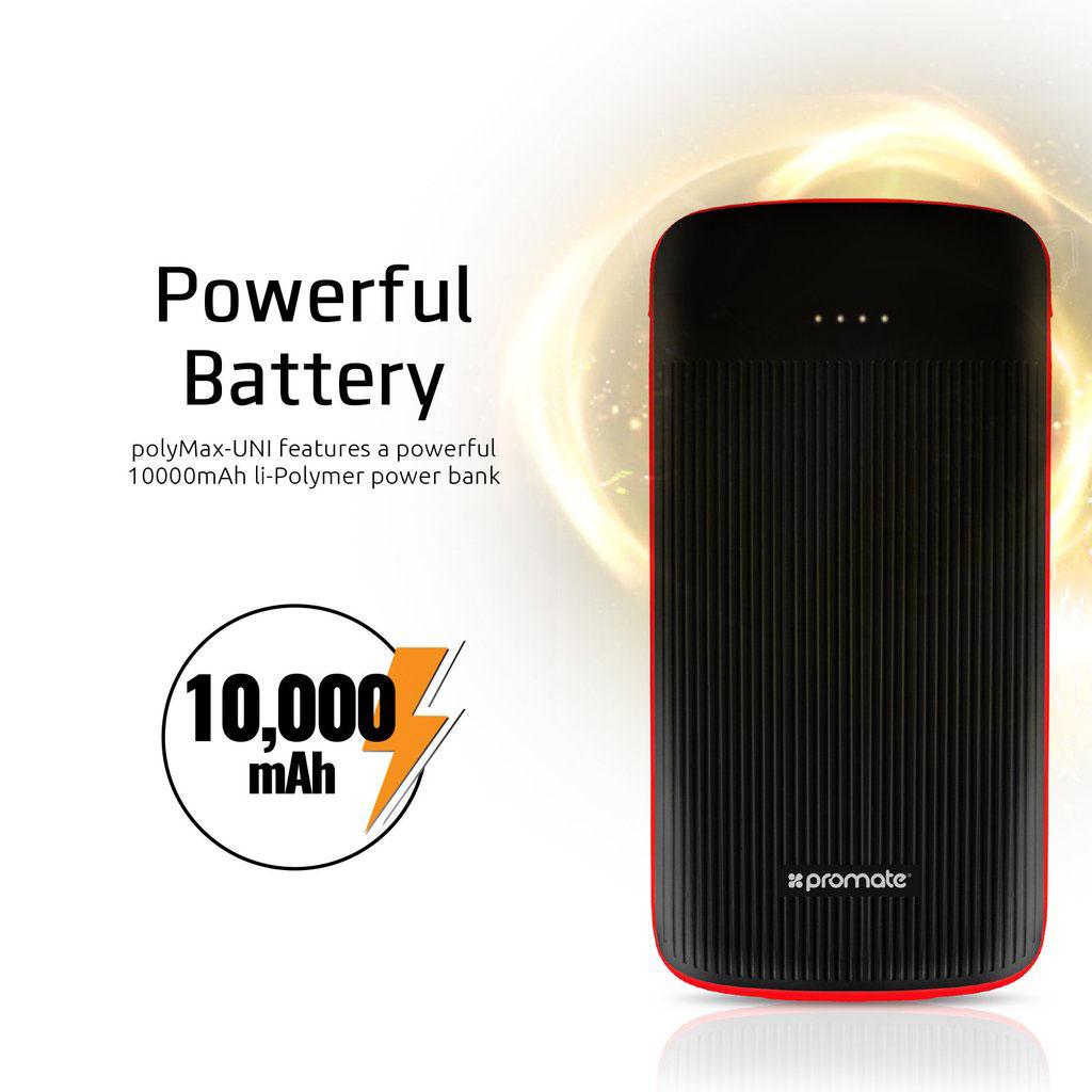 Promate polyMax-UNI 10000mAh Ultra-Thin 3-in-1 Power Bank