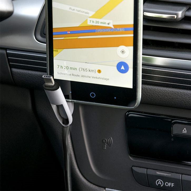 4smarts multicord 3 4a micro usb usb c car charger black grey Decline Alt