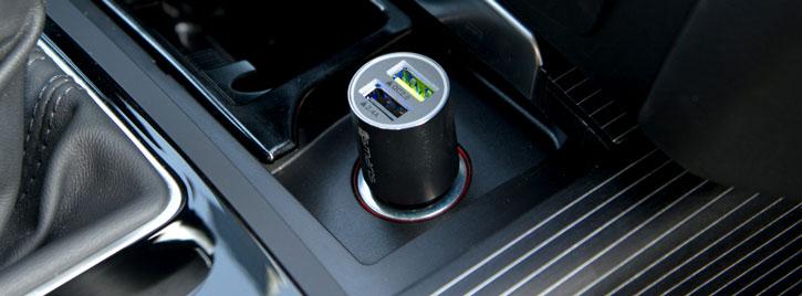4Smarts Rapid Qualcomm 2.0 Dual USB Car Charger - Grey