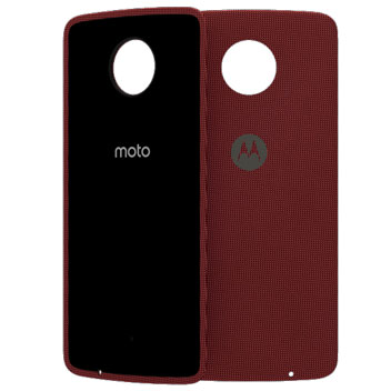 try using single official motorola moto z shell nylon fabric back cover red seem have