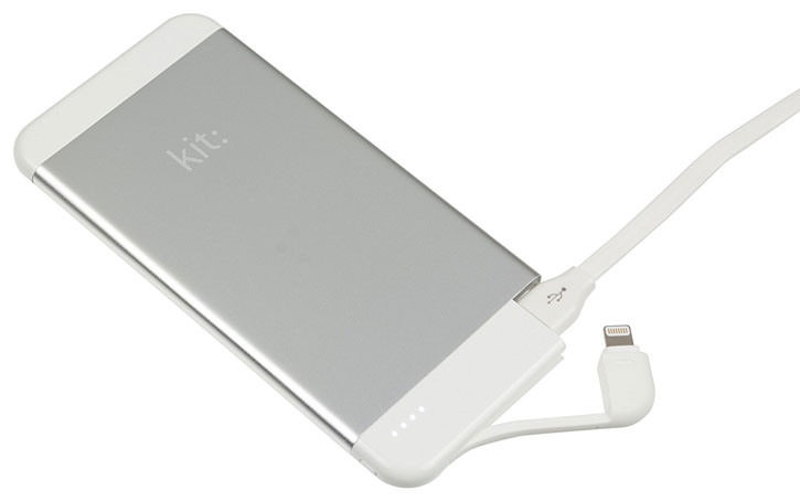 Kit Executive 4100mAh Lightning Power Bank - Silver