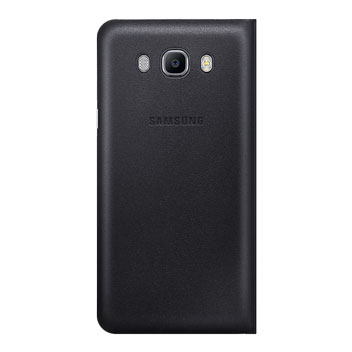 Official Samsung Galaxy J7 2016 Flip Wallet Cover - Black