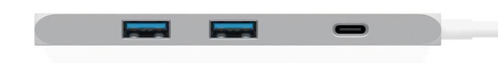 Satechi USB-C Slim Aluminum Multi-Port Adapter - Silver