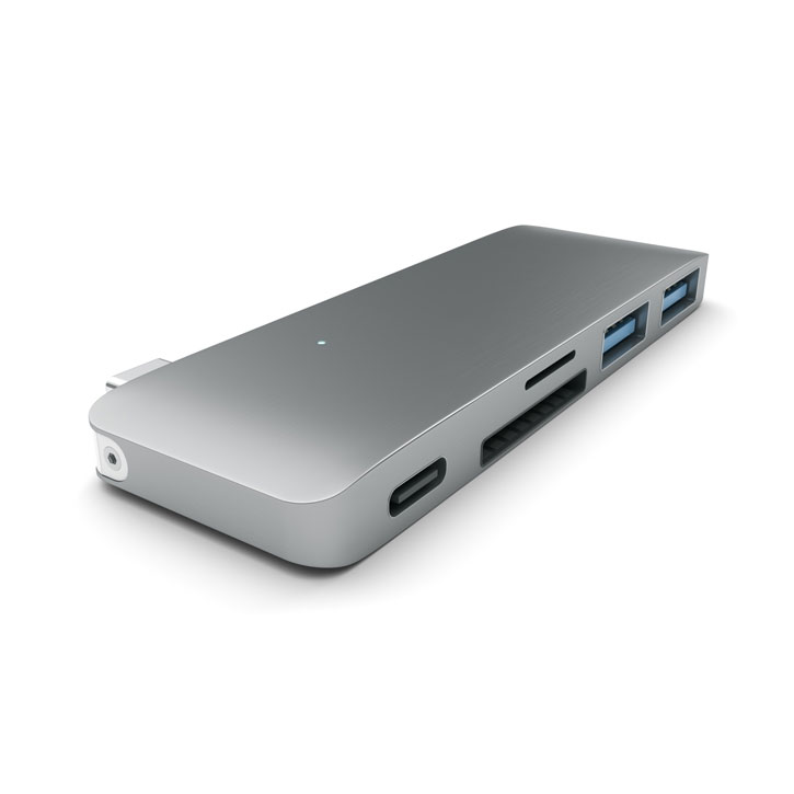 Satechi USB-C Adapter & Hub with USB Charging Ports - Space Grey