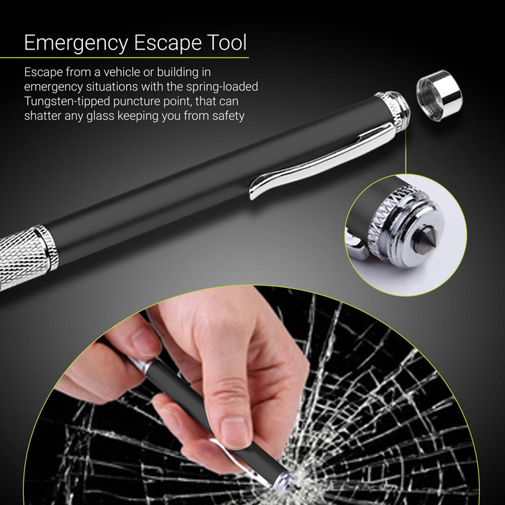 Olixar 3-in-1 Executive Emergency Pen & Stylus