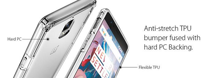 Spigen Ultra Hybrid OnePlus 3T / 3 Bumper Case - Crystal Clear