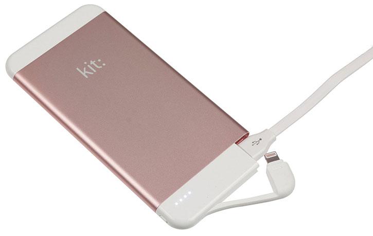 Kit Executive 4100mAh Lightning Power Bank - Silver