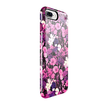 Speck Presidio Inked iPhone 7 Plus Case - Magenta / Pink Flower