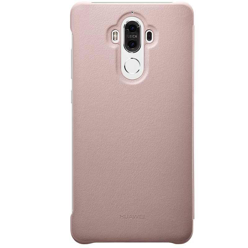 Official Huawei Mate 9 Leather-Style View Cover Case - Pink