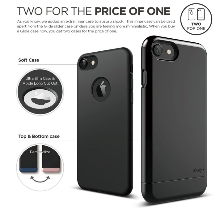 Elago S7 Glide iPhone 7 Case - Jet Black