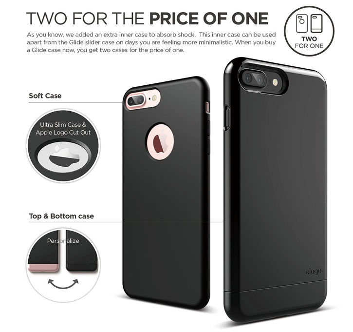 Elago S7 Glide iPhone 7 Case - Jet Black
