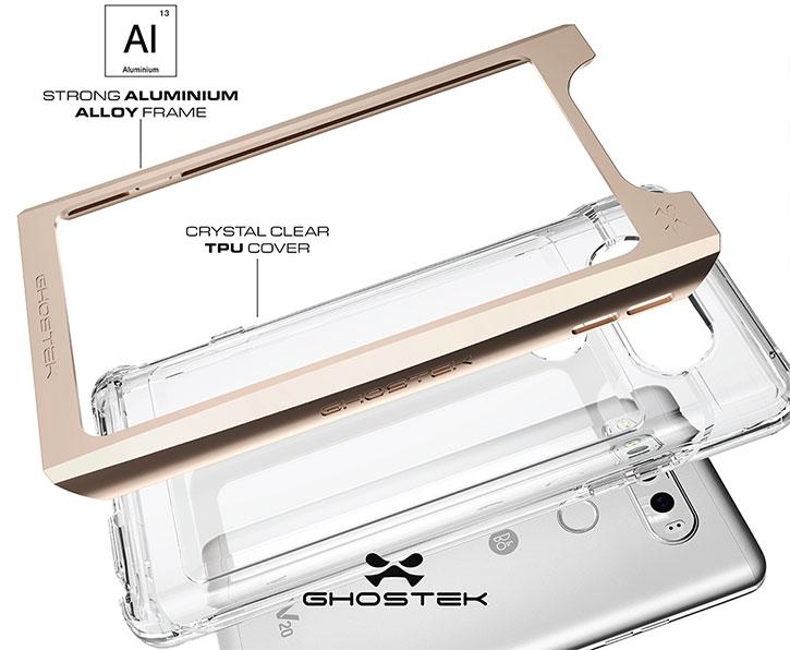 Ghostek Cloak 2 Series LG V20 Aluminium Tough Case - Clear / Black