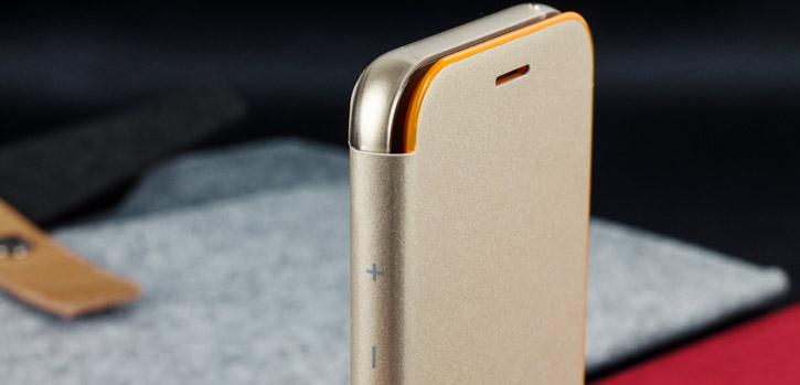 Official Samsung Galaxy A3 2017 Neon Flip Wallet Cover - Gold