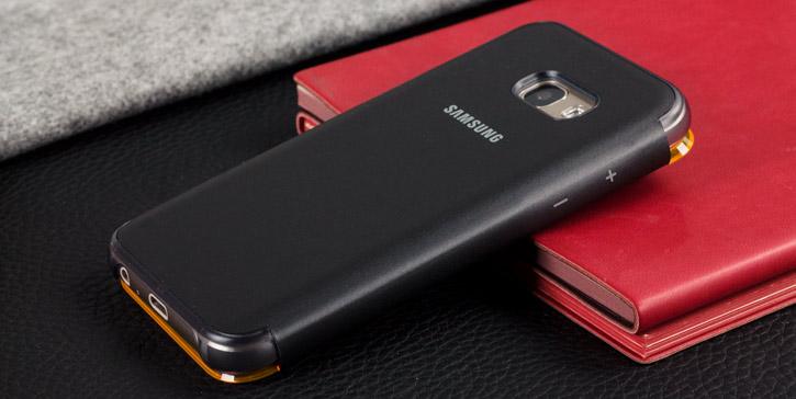 Official Samsung Galaxy A3 2017 Neon Flip Wallet Cover - Black