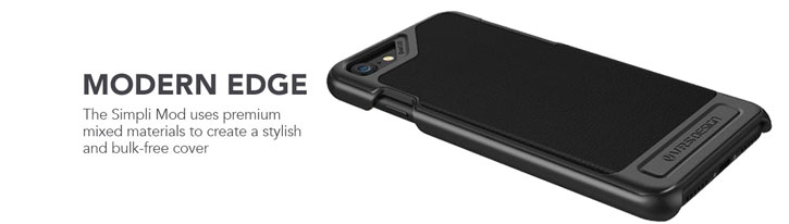 VRS Design Simpli Mod Genuine Leather iPhone 7 Case - Black