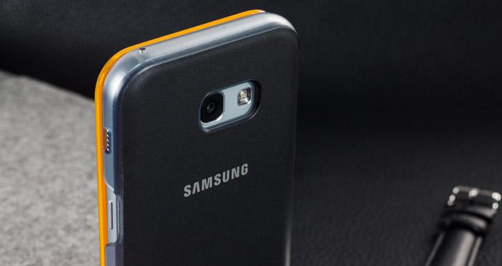 Official Samsung Galaxy A5 2017 Neon Flip Wallet Cover - Black