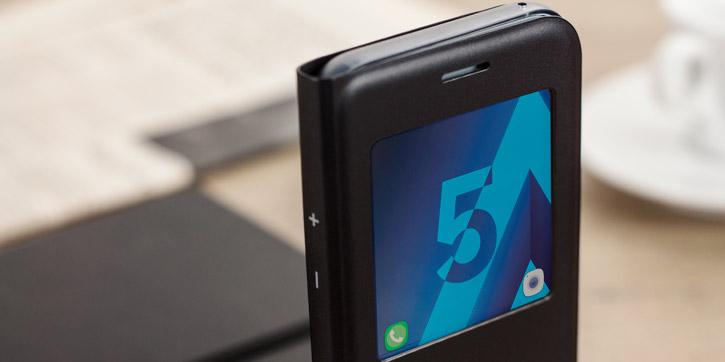 Official Samsung Galaxy A5 2017 S View Premium Cover Case - Black