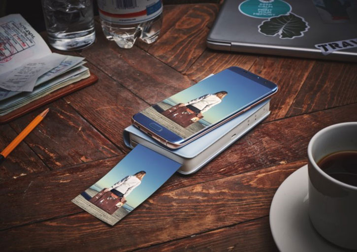 Official Samsung Portable Smartphone Printer - Blue