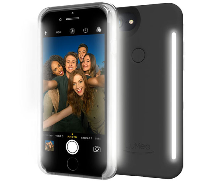 LuMee Duo iPhone 8 Double-Sided Selfie ljus - Svart